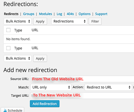Wordpress Redirect By Redirections