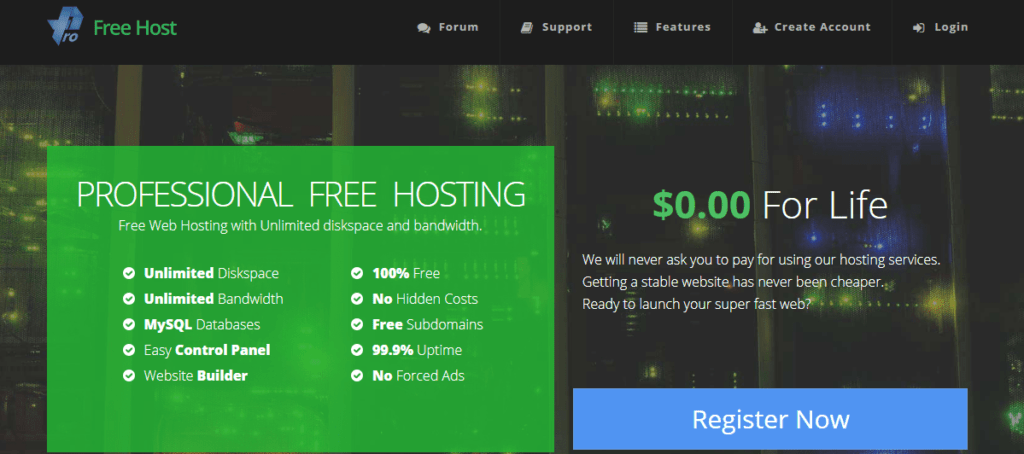 Pro Free Host Unlimited Free Hosting