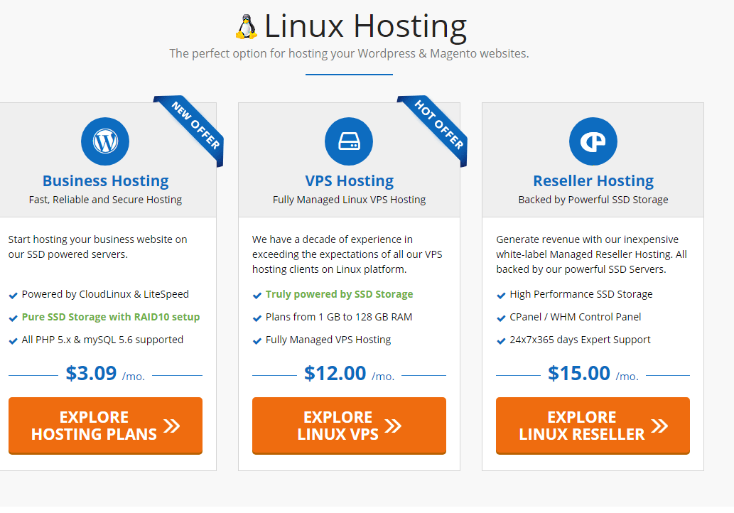Accuweb Hosting service Linux Hosting Plans Details
