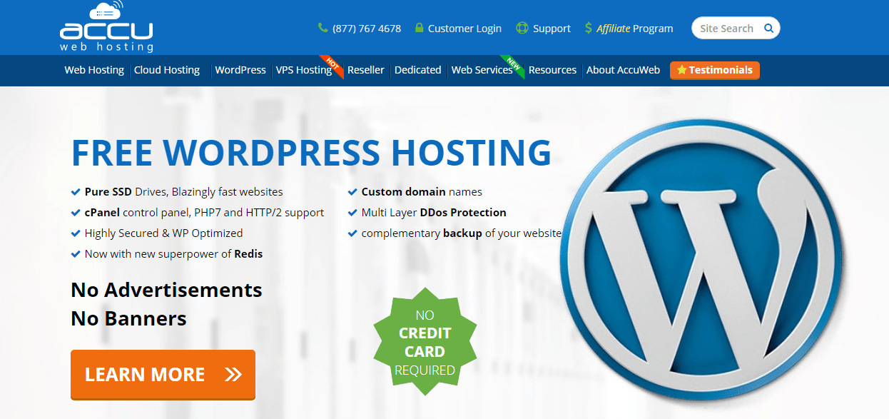 Free WordPress web Hosting With Accu Web Hosting