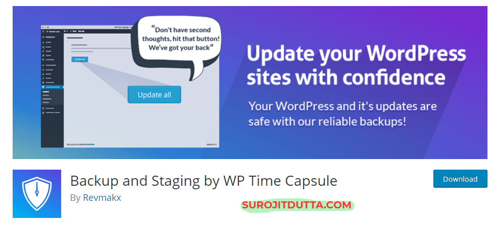 WP Time Capsule- Another WordPress Backup Plugins