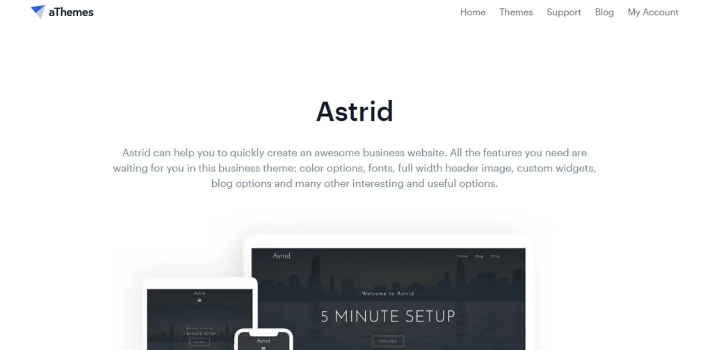 Astrid- Another Very Good WordPress Free Themes For blogs