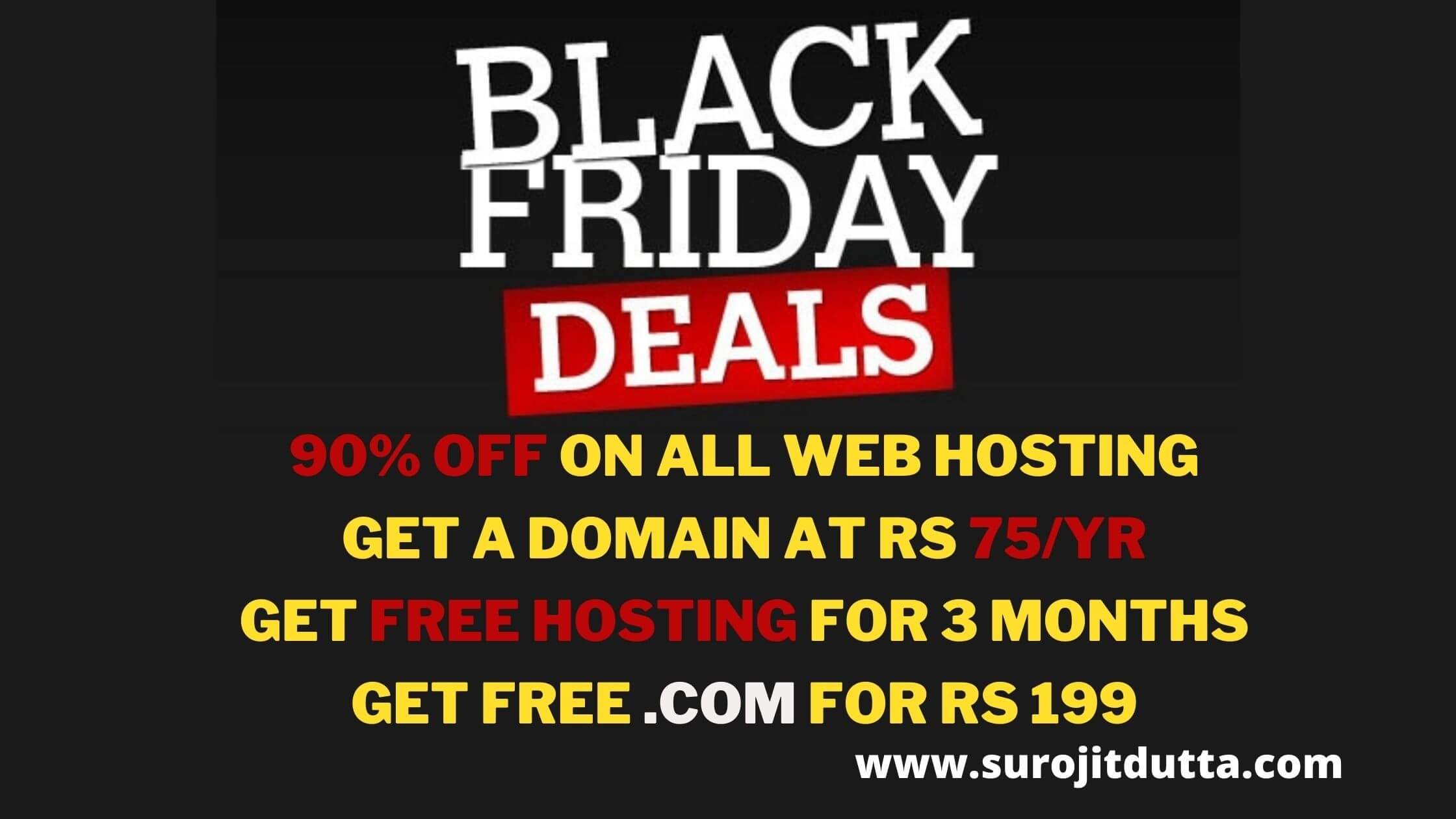 Black Friday Deals 2020- Surojitdutta.com