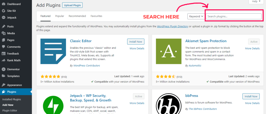 How To Install WordPress Plugin From WP Search