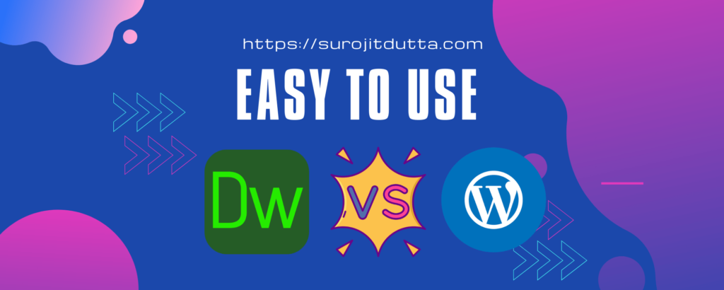 Dreamweaver Vs WordPress - Easy To Use Functions