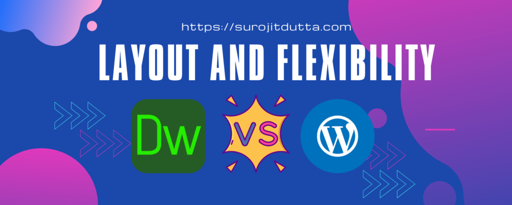 Dreamweaver Vs WordPress - Layout And Flexiblity Details