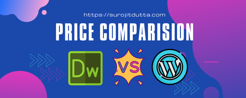 Dreamweaver Vs WordPress - Price Comparisions Details