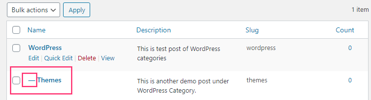 How To Create Sub category In WordPress