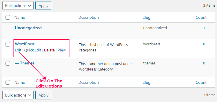How To Edit Category In WordPress