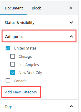 How To Add New Categories
