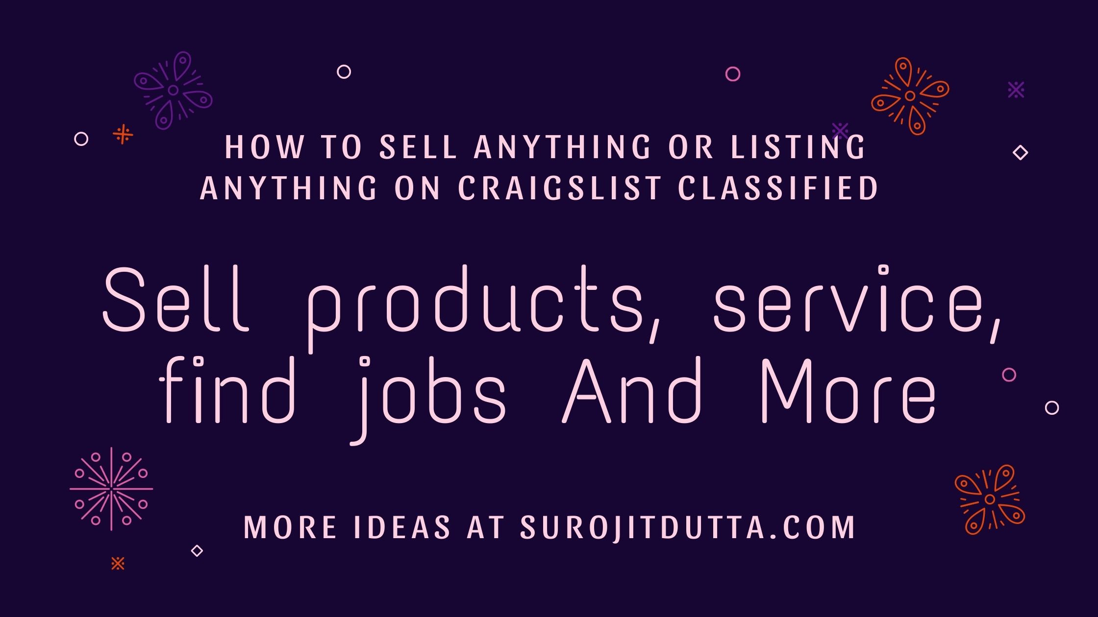 Craigslist Classified Website Listing Details