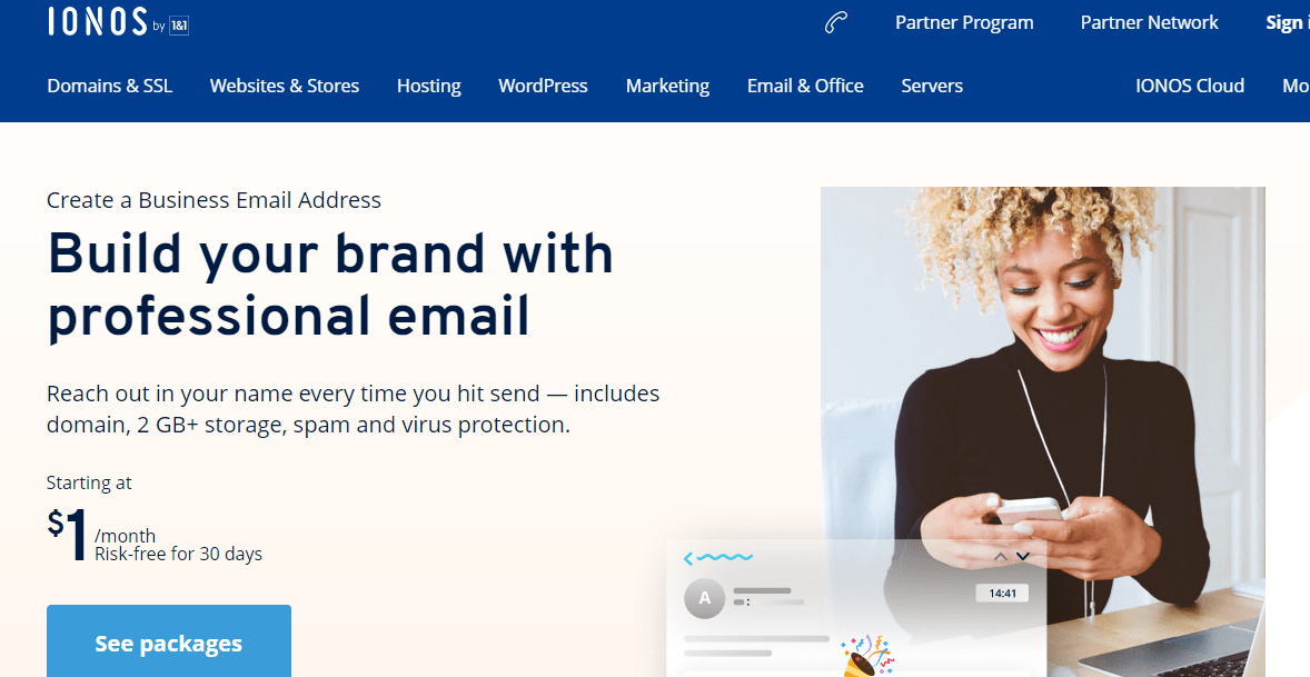 1and1 webmail Service