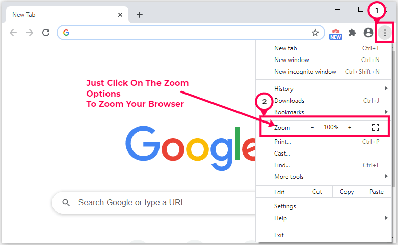 How To Zoom Your Chrome Browser